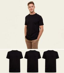 Black Cotton T Shirt (Pack of 3)