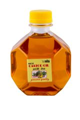 Castor oil organic- Pure & natural - 300 ml - diamond bottle (Code - mscastor)