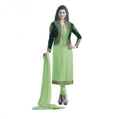 Bhumik Enterprise   Women Satin Georgette Semi-Stitched Salwar Suit  (Code - BE10781)
