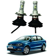Trigcars Volkswagen Ameo Car Glass Led Head Light