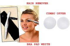 White Bra Pad Inserts Inhance Breast light weight   Bi-Feather Eyebrow Hair Shaper & Shaver.