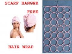 Multifunctional Clothes/ Tie / Belt / Scarf Hanger 28 Column Free Hair Wrap Cap.