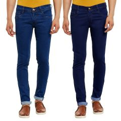 Waiverson Slim Fit  Men's Multicolor Jeans(Pack of 2) (Code - DP-1001-2-2DNM)