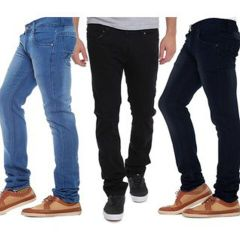 Waiverson Slim Fit  Men's Multicolor Jeans(Pack of 3) (Code - DP-1004-5-6-3DNM)