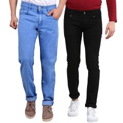Waiverson Slim Fit  Men's Multicolor Jeans(Pack of 2) (Code - DP-1007-9-2DNM)
