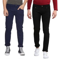 Waiverson Slim Fit  Men's Multicolor Jeans(Pack of 2) (Code - DP-1008-9-2DNM)