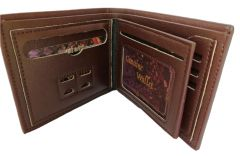 Kash Genuine Leather Wallet ID Pouch Brown (Code - GLBRID)