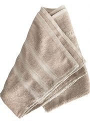 Krish 100% Cotton Bath Towel 600 GSM Light Brown ( Code - TWLBROWN)