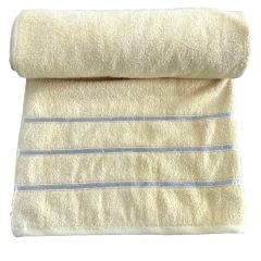 Krish 100% Cotton Bath Towel 670 GSM Mustard Yellow ( Code - TWLMYLW)