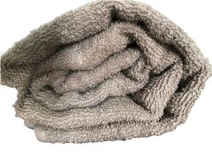 Krish 100% Cotton Bath Towel 380 GSM Tan Grey with Tussels (Code - TWGRYTUSSEL)