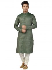 Limited Edition Cotton Silk Regular Fit Self Design Kurta Pajama ( Code - Akakkuset120)