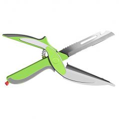 Clever Cutter 2 in 1 Multi-Function Kitchen Scissors Cutter Knife & Board