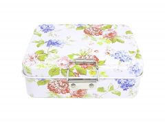 Lock Case Tea Candy Storage Tin Box Jewelry Container Sundries Organizer