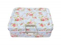 Wishpool Lock Case Tea Candy Storage Tin Box Jewelry Container Sundries Organizer