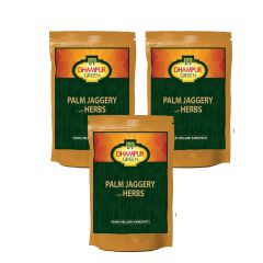 Gift Or Buy Dhampur Green Palm Jaggery With Herbs 150gm (pack Of 3)