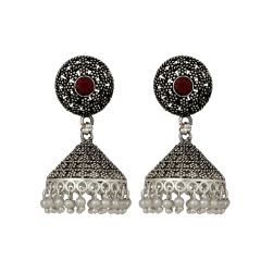 """Piah Fashion Dazzling Silver Anti -Oxide pearl   Earring for Women'(code-9055)"