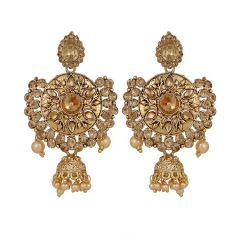 Piah LCT Gold Plated Drop Earrings Jumkhi for Women'(code-9142)