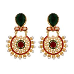 Piah Fashion Classic Emerald Wedding collection  Earrings for Women'(code-9155)