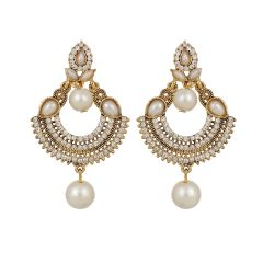 Piah Fashion pearl Chandbali  Earrings for Women'(code-9218)