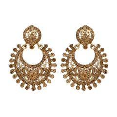 Piah fashion Ethnic Gold Plated Chandbali Earrings for Women'(code-9220)