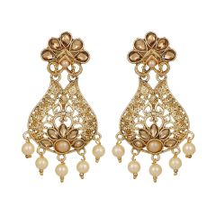 Piah Gem Studded Regal Drop Earrings Alloy Dangle Earring'(code-9238)