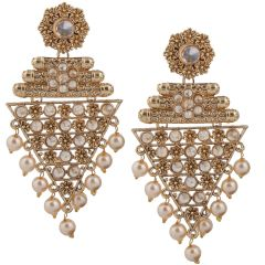 Piah Fashion Gold Plated Tradational Full LCT Stone Earring For Women and Girl'(code-9280)