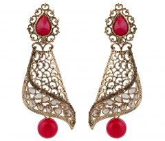 Piah Fashion Gold Plated  Full LCT & Pink  Earring For Women and Girl'(code-9325)