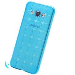 TPU/Rubber IceCube Design Transparent Back Cover for Samsung Galaxy J7(2015) - Transparent blue