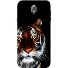 Samsung Galaxy J7 Pro Case, Tiger Black Slim Fit Hard Case Cover Back Cover for Samsung J7 Pro Case