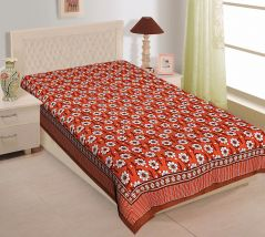 Texstylers 100% Cotton Single Bed Sheet Without Pillow Cover - ( code-Pr_Sgl_09 )