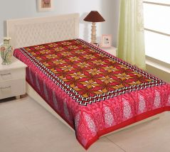 Texstylers 100% Cotton Single Bed Sheet Without Pillow Cover - ( code-Pr_Sgl_15 )