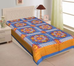 Texstylers 100% Cotton Single Bed Sheet Without Pillow Cover - ( code-Pr_Sgl_20 )