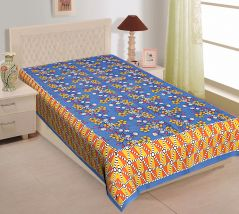 Texstylers 100% Cotton Single Bed Sheet Without Pillow Cover - ( code-Pr_Sgl_28 )