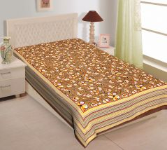 Texstylers 100% Cotton Single Bed Sheet Without Pillow Cover - ( code-Pr_Sgl_31 )