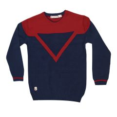 Gusto Navy Blue Cotton Full Sleeved Round Neck T_Shirt for Boys (Code _ 3423_NAVY)