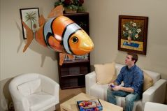 Shop or Gift Air Swimmers Toys - Remote Control Flying Clown Fish Online.