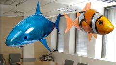 Shop or Gift Air Swimmers Remote Control Flying Fish Toy Online.
