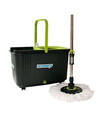 PLATEX Magic Spin Mop 360 - Stainless Steel And Trolley Model