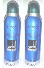 Set Of 2 Ecco 62 Dunhill Desire Blue Perfumed Deodorant Spray 200 Ml