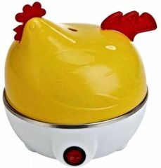 Kitchen Appliances (Misc) - Cubee Yellow And White Plastic Electric Hen Shaped Egg Boiler