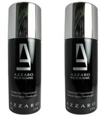 Set of 2 Azzaro Black Deodorant 200 ml