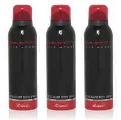 Set of 3  Chastity Pour Homme Deodorant Body Spray(200ml)