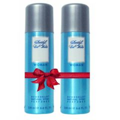 Shop or Gift Set of 2 Davidoff Cool Water Deodorant for Women 200 ml Online.