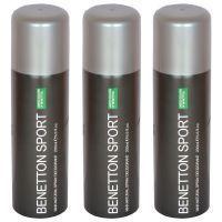 Set Of 3 Benetton Sports Ucb Man Natural Spray Deodorant 200 Ml