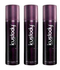 Deodorants - Set of 3 Kustody Deodorant Body Spray Witchy Wine 150ml Body Spray - For Women