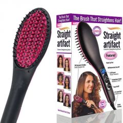 Simply Straight Ceramic Electric Digital Hair Straightener Brush