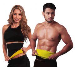 Health & Fitness - Unisex Hot shaper Melt N Slim belt tummy trimmer waist shaper neotex