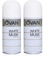 Jovan Deodorants - Set of 2 Jovan White Musk Deodorant For Men 200 Ml