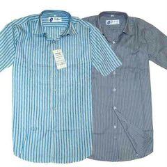 Shop or Gift Set of two Formal Half Sleeves Stripe Shirts Online.