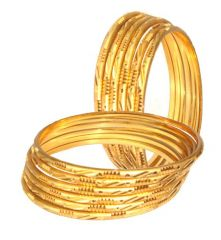 Mother's Day Gifts   Bangles & Bracelets - 12 Gold Plated Bangle Set for Your Mother